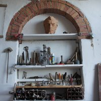 Photos of sculpture studio - click on photo to enlarge