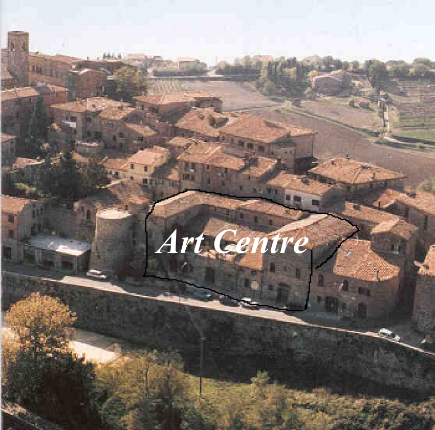 Aerial view showing the Art Centre