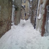 Via San Michele - we could not open the door on the first day after the snowfall