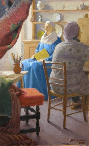 """The Art of Painting"" by Anne Shingleton, 2010 Oil on canvas - 16.5 x 26cm"