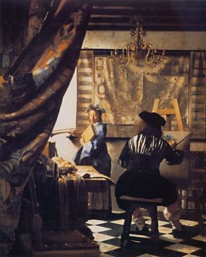 The Art of Painting, by Johannes Vermeer 130 x 110cm, 1666